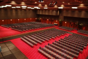 a large conference hall at Royal Pines Resort on the Gold Coast