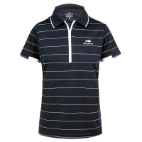 SL Noah - Ladies Polo Shirt - Black w/ White Stripes