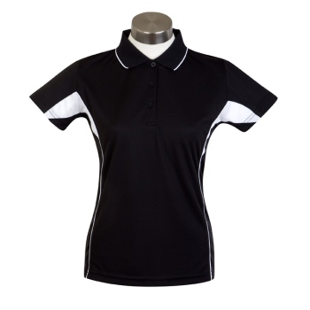 Sporte Leisure Race Polo Shirt - Ladies - Black / White