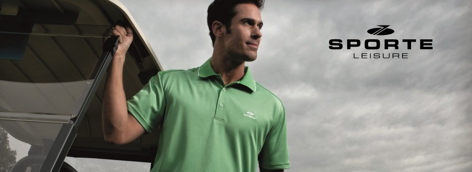 a male golfer wearing a green shirt