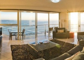 the living area in the Talisman Apartments, Broadbeach